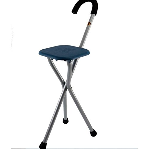 Handle Steel Walking Stick - MOXIN Cane seat walking stick seat canes three-legged stool chairs for the elderly the elderly walking stick stool , a , tripods stick stool stool