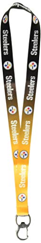 (Pro Specialties Group NFL Pittsburgh Steelers Ombre Lanyard, Gold/Black, Onse Size)