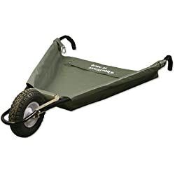 "Allsop Home and Garden WheelEasy Folding Yard Cart/Ground Load Wheelbarrow, Lightweight with 350 lbs Capacity, Ultra-Thick Vinyl-Coated Nylon, Large 12.5"" Pneumatic Tire"