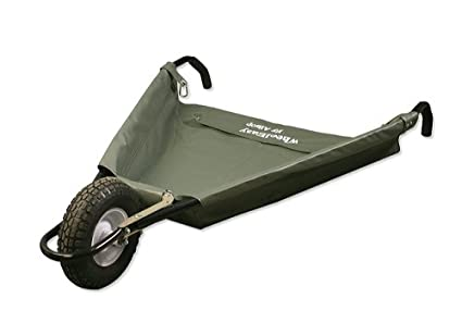 Allsop Home And Garden WheelEasy Folding Yard Cart/Ground Load Wheelbarrow,  Lightweight With 350