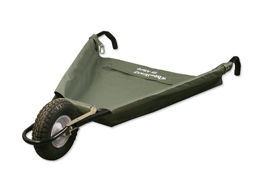 Allsop Home And Garden WheelEasy Folding Yard Cart / Ground Load  Wheelbarrow, Lightweight With 350