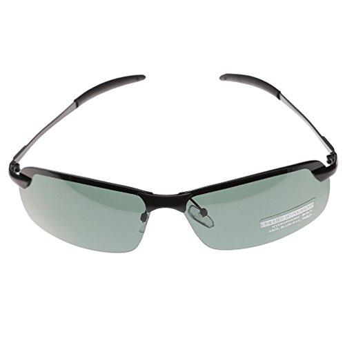 Frame scuro da sole verde szcxtop polarizzati Nero lenti A Uomini Occhiali OFwAwYq