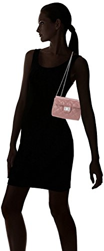 Women's amp;c dark Handbag Silver Pink M Chain tone Quilted 45andqqwR