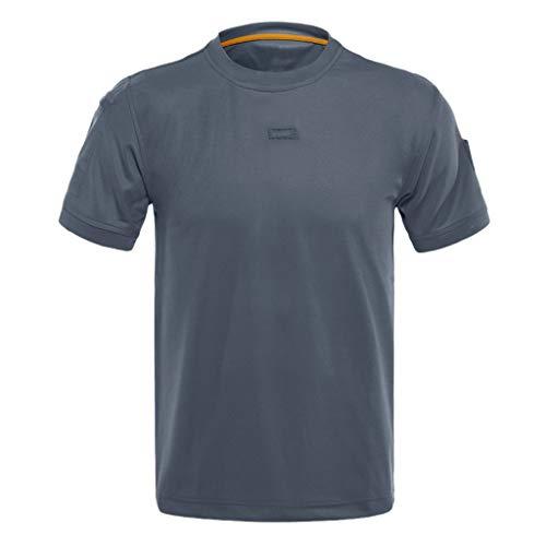 Men's Workout &Training Shirts Beautyfine Short Sleeve Loose Tactical Elastic Quick Dry T-Shirts Tops ()