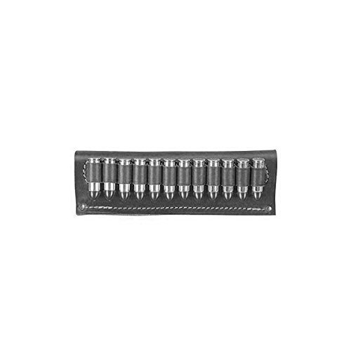 - vsdfvsdfv Cartridge Belt Slide Pistol Ammunition Carrier Leather (BLACK.38 Caliber)