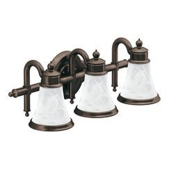 Moen YB9863ORB Waterhill Three Globe Bath Light, Oil Rubbed Bronze by Moen
