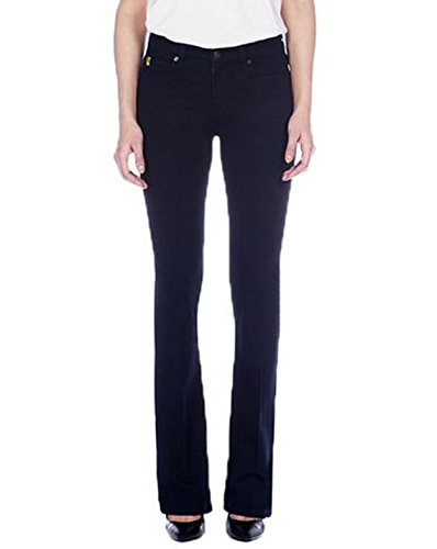 SECOND YOGA Womens Mid Rise Stretch Fit Bootcut Jeans Sz 27 Ink 270107E
