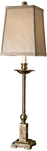 Uttermost 29427-1 Lowell Buffet Lamp 8.5 x 8.5 x 34, Aged Bronze, Lightly