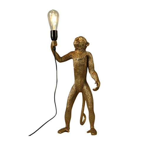 Indoor Lighting Floor Lamps Creative Industrial Wind Retro Resin Monkey Floor Lamps Personality LOFT Living Room Restaurant Bedroom Standard Floor Lamp Floor Lamps Shades