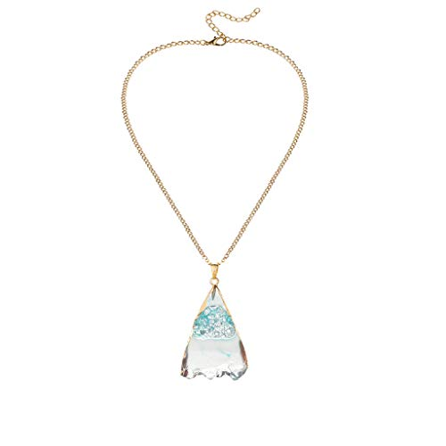 Simple New Necklace Natural Crystal Ore Irregular Personality Pendant Necklace ()