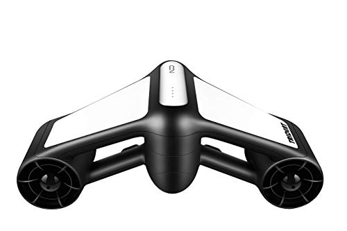 Geneinno Underwater Scooter Dual Propellers with 2-Speed Compatible with GoPro White