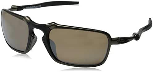 Oakley Men's Badman OO6020 Polarized Iridium Rectangular Sunglasses