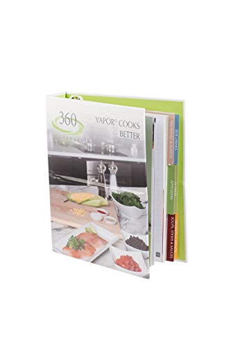 360 Cookware Vapor Cooks Better Cookbook. Manual for Our 360 Stainless Steel, Waterless Cookware and Vapor Technology Cooking. Learn How To Cook Healthy With Little To No Water. Stands Up On Counter