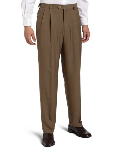 Haggar Men's Big-Tall Repreve Stria Pleat Front Dress Pant,