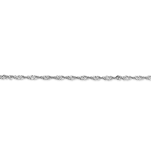ICE CARATS 14k White Gold Singapore Lock Anklet Chain Fine Jewelry Ideal Mothers Day Gifts For Mom Women Gift Set From Heart by ICE CARATS (Image #5)