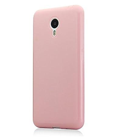 Prevoa ® 丨 Meizu M2 Note Funda - Colorful Silicona Funda Cover Case para Meizu M2 Note 5.5 Pulgadas Smartphone - Rosa