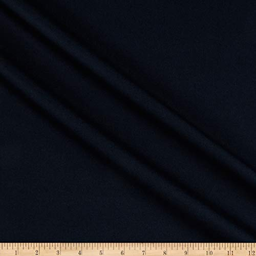 (Tuva Textiles Solid Wool Blend Twill Light Blue Fabric by The Yard)