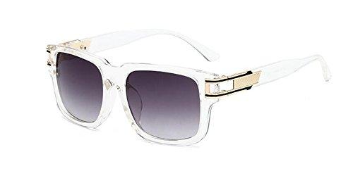 lunettes du vintage métallique de Lennon retro soleil Cadre Transparent style en polarisées cercle inspirées rond aqaIrgw