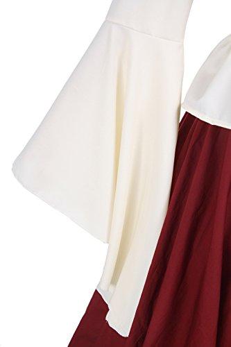 ni Party Gc229b Langarm Maxi Damen Kleid Kostüm Nuoqi Kleid Mittelalterliche Königin wxfvU0q7S