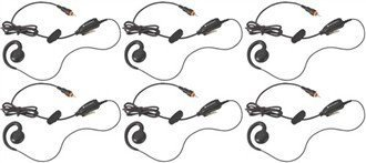 6 HKLN4455 Motorola Single Pin Headsets (Motorola Compact Headset)