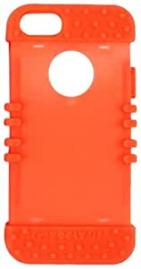 Cell Armor Rocker Silicone Skin Case for iPhone 5 - Retail Packaging - Orange