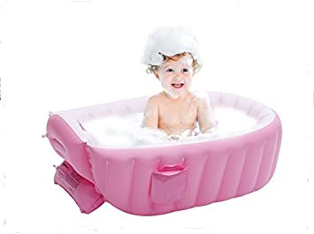 Amazon Com Inflatable Baby Bathtub Kid Infant Toddler Infant