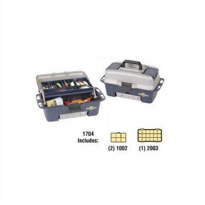 Flambeau Tackle 1 Tray Zerust Kwikdraw Tackle Box (Blue/Grey, 16.75×8.125×8-Inch)