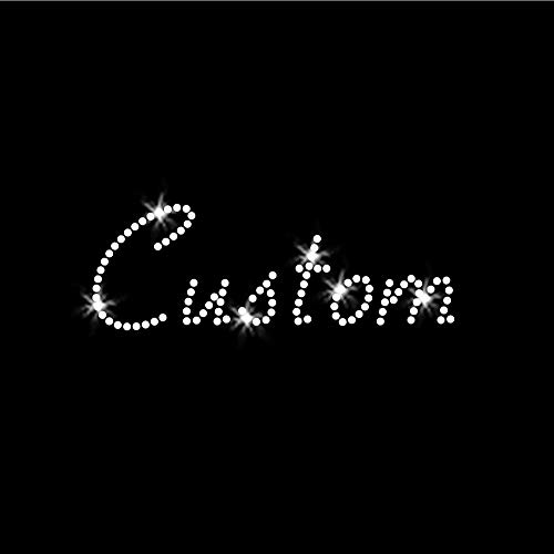 Elegant Custom Word Iron On Clear Rhinestone Crystal T-Shirt Transfer Script Style Letters by JCS Rhinestones