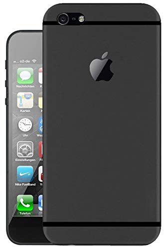 Hello Zone Exclusive Matte Finish Soft Back Case Cover for Apple iPhone 5 / 5S / Se   Black