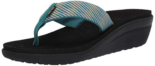 Teva Women's W VOYA Wedge Sandal Nitro deep Lake 9 Medium US (Mandalyn Teva)