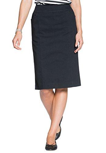 Women's Plus Size Straight Skirt Black,34 W