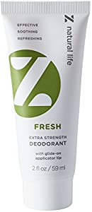 Z Natural Life Extra Strength Deodorant - Fresh Scent - NEW! Stick Like Applicator Tip (Aluminum Free & Baking Soda Free)
