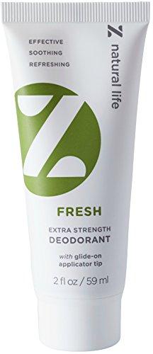 Z Natural Life Extra Strength Deodorant - Fresh Scent - NEW! Stick Like Applicator Tip (Aluminum Free & Baking Soda Free)