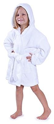 Indulge Girls Robe, Kids Hooded Soft and Plush Bathrobe, Made in Turkey
