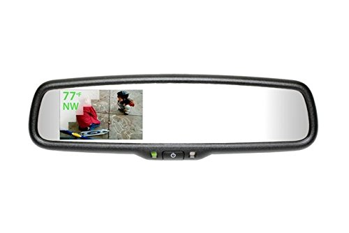Gentex 50-GENK3320S Rearview Camera Display Mirror Auto Dimming 3.3 in. with Compass or Temperature