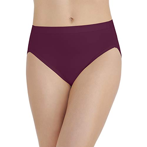 (Vanity Fair Women's Comfort Where It Counts Hi Cut Panty 13164, Chilled Wine, X-Large/8)