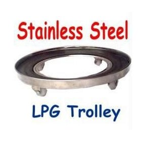 ADITYA INFO™ Useful LPG Cylinder Stainless Steel Trolley
