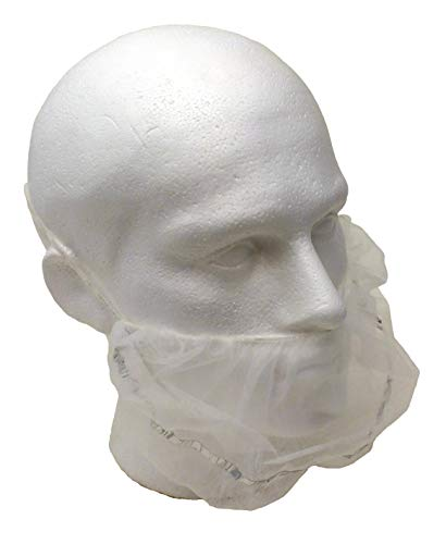 Detectable Non Woven Beard Cover White Pack 500 by Detectamet Food Safe Detectable Products (Image #1)
