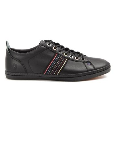 Homme Baskets Cuir Noir Rayure Osmo PAUL SMITH Sneakers SHOES q4z6wz