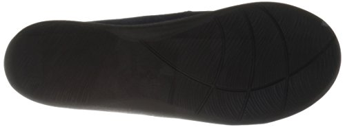 CLARKS Damen CloudSteppers Sillian Paz Slip-On Loafer Marineblaues synthetisches Nubuk