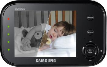 samsung sew 3036w babyview baby monitoring system ir night vision zoom 3 5 in. Black Bedroom Furniture Sets. Home Design Ideas