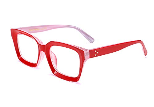 FEISEDY Classic Oprah Square Large Eyewear Non-prescription Thick Glasses Frame for Women B2461
