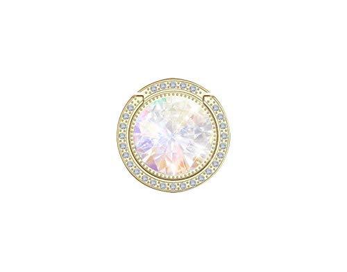 Glitter Bling Bling Phone Ring Holder,Sparkle Phone Ring Artificial Diamond Kickstand,Rhinestone Cell Phone Finger Ring Grip for Girls/Women for Almost All Phones/Pad(Gold)