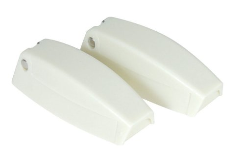 Camco RV Baggage Door Catch -Holds RV Baggage Compartments and Doors Open, Durable Material and Simple Installation- Polar White (2 Pack)(44173) (Best Places Camp Oregon Coast)