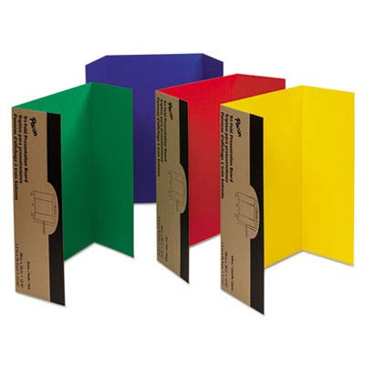 Pacon 37654 Spotlight Corrugated Presentation Display Boards, 48 x 36, Assorted (Case of 4) (Best Science Fair Display Boards)