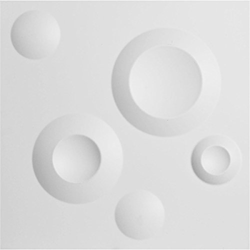 Ekena Millwork WP12X12COWH Cole Design Decorative 3D Wall Panel White