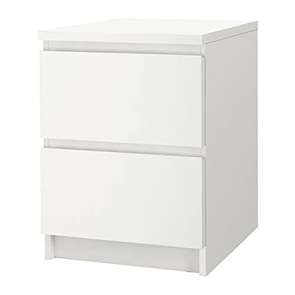 Superbe IKEA Malm 2 Drawer Chest White 802.145.49