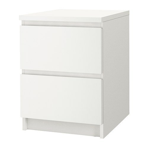 IKEA Malm 2-drawer Chest White 802.145.49 (Ikea Furniture Bedroom White)
