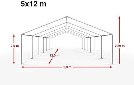 500g//m/² Lona PVC en Verde Oscuro Impermeable TOOLPORT Carpa para Fiestas Carpa de Fiesta 3x4 m Carpa de pabell/ón de jard/ín Aprox
