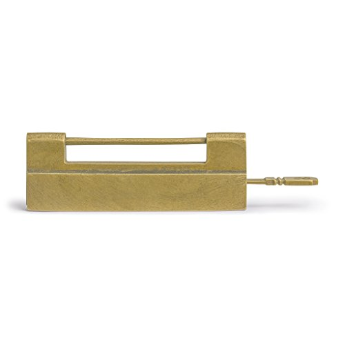 Traditional Chinese Brass Door Chest Cabinet Hardware Key Lock, 3.7 Inches ()